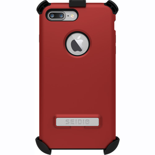 Seidio Dilex Case with Kickstand for iPhone 7 Plus/8 Plus and Holster (Red/Black)
