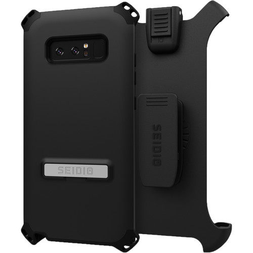 Seidio Dilex Case with Kickstand for Galaxy Note 8 and Holster (Black/Black)