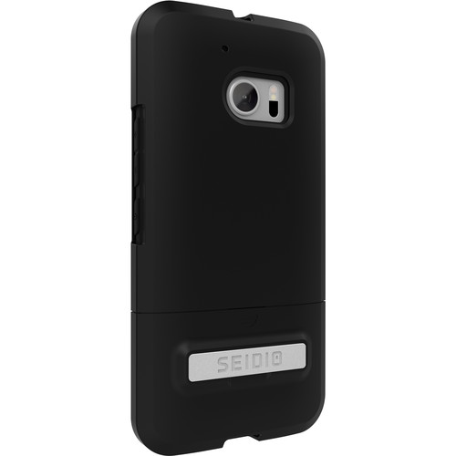Seidio SURFACE Case with Kickstand for HTC M10 (Black/Black)