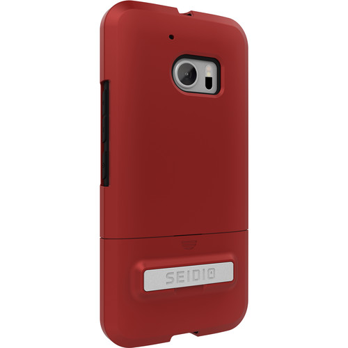 Seidio SURFACE Case with Kickstand for HTC M10 (Dark Red/Black)