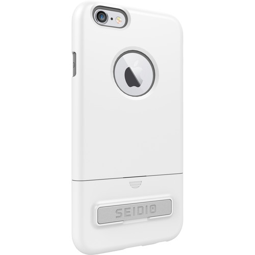 Seidio SURFACE Case with Kickstand for iPhone 6/6s (Glossed White/Gray)
