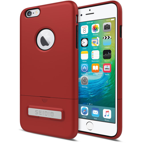 Seidio SURFACE Case with Kickstand for iPhone 6 Plus/6s Plus (Dark Red/Black)
