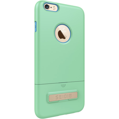 Seidio SURFACE Case with Kickstand for iPhone 6 Plus/6s Plus (Mint/Blue)