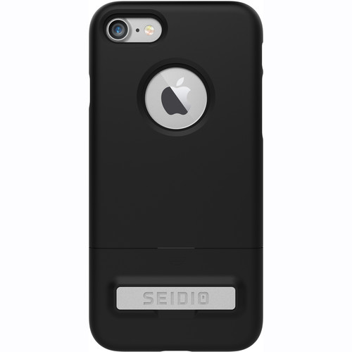 Seidio SURFACE Case with Kickstand for iPhone 7 (Black/Black)