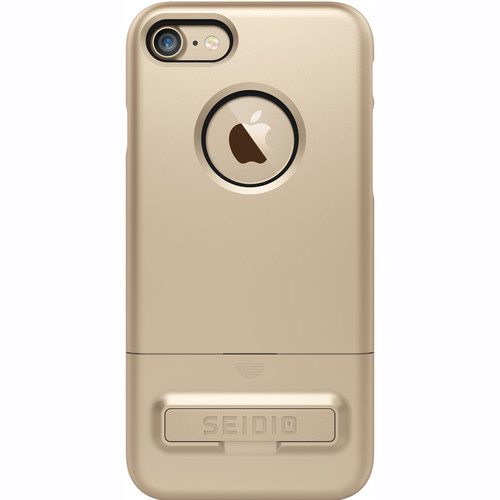 Seidio SURFACE Case with Kickstand for iPhone 7 (Gold/Black)