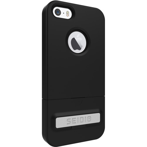 Seidio SURFACE Case with Kickstand for iPhone 5/5s/SE (Black/Black)