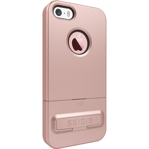 Seidio SURFACE Case with Kickstand for iPhone 5/5s/SE (Rose Gold/Chocolate Brown)