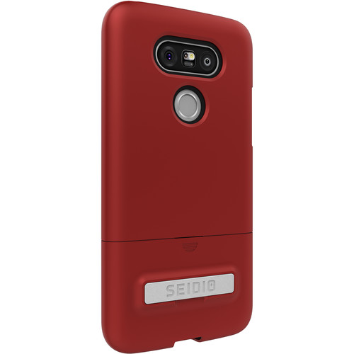 Seidio SURFACE Case with Kickstand for LG G5 (Dark Red/Black)