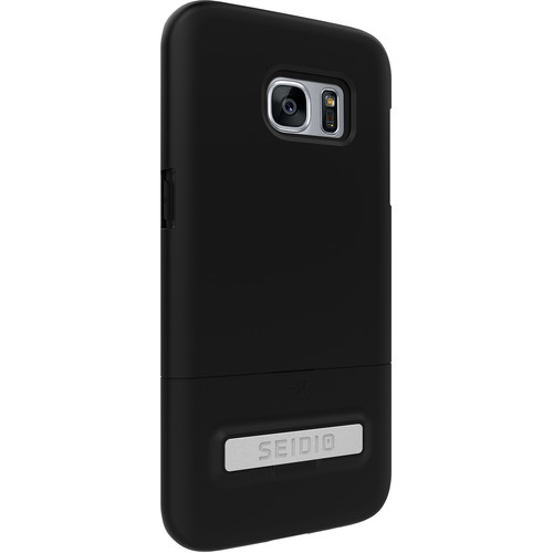 Seidio SURFACE Case with Kickstand for Galaxy S7 edge (Black/Black)