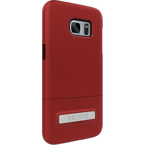 Seidio SURFACE Case with Kickstand for Galaxy S7 edge (Dark Red/Black)