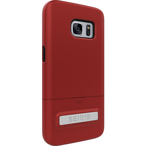 Seidio SURFACE Case with Kickstand for Galaxy S7 (Dark Red/Black)