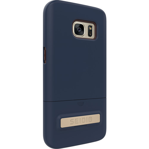 Seidio SURFACE Case with Kickstand for Galaxy S7 (Midnight Blue/Chocolate Brown)