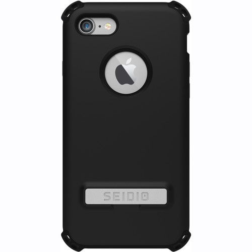 Seidio Dilex Case with Kickstand for iPhone 7 (Black/Black)