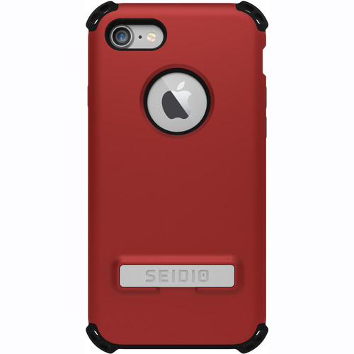 Seidio Dilex Case with Kickstand for iPhone 7/8 (Red/Black)