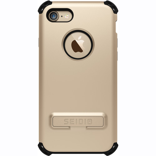 Seidio Dilex Case with Kickstand for iPhone 7 (Gold/Black)