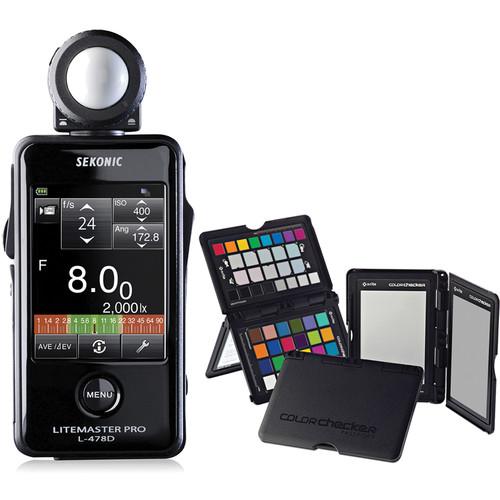 Sekonic Litemaster Pro L-478D Light Meter and X-Rite ColorChecker Passport with Sekonic Gray Balance Card