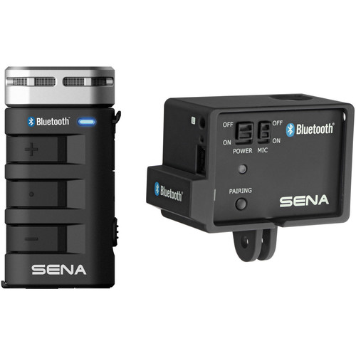 SENA Bluetooth Mic & Intercom Kit with Audio Pack for GoPro