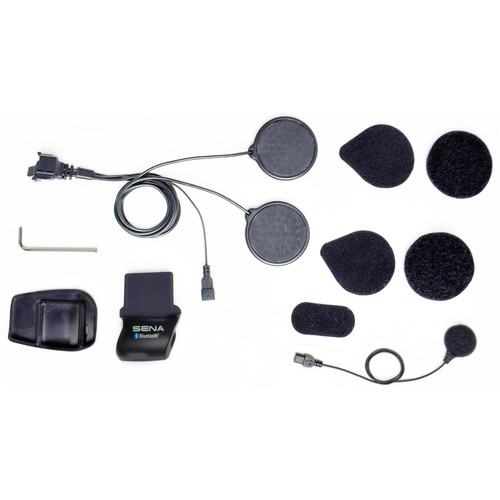 SENA Helmet Clamp Kit with Wired Microphone for SMH5 / SMH5-FM / SPH10H-FM Bluetooth Headset & Intercom