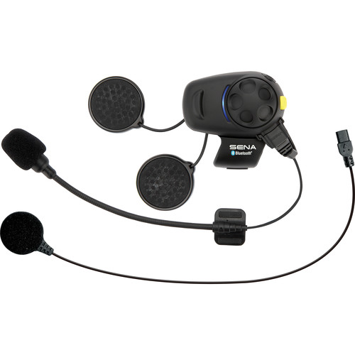 SENA SMH5-FM Motorcycle Bluetooth Headset & Intercom with Universal Microphone Kit & Built-in FM Tuner