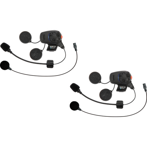 SENA SMH5 Motorcycle Bluetooth Headset & Intercom with Universal Microphone Kit (Dual Pack)