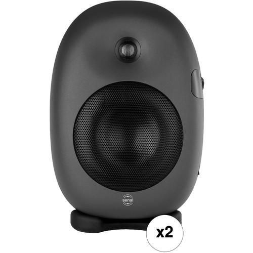 "Senal ASM-6 Professional Two-Way Active 6.5"" Studio Monitor Speaker Pair Kit"