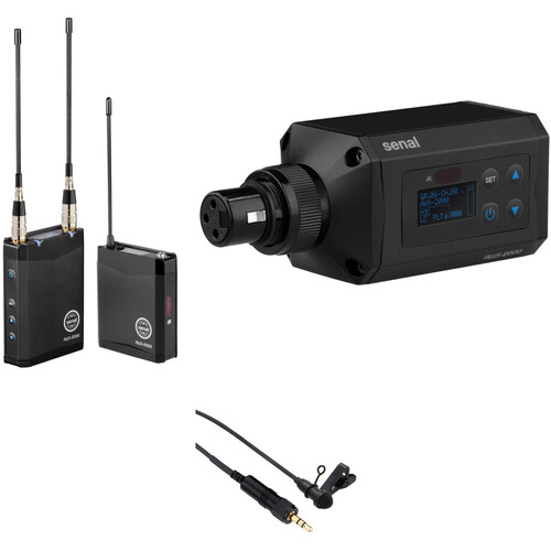 Senal AWS-2000-A Advanced Wireless Microphone System Kit (A: 522 to 554 MHz, OLM-2 Lavalier Microphone and Plug-On Transmitter Included)
