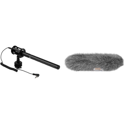 Senal MS-77 DSLR/Video Mini Shotgun Microphone & Custom Windbuster Kit