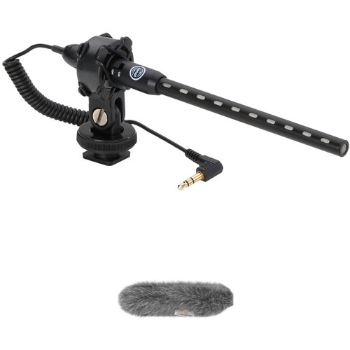 Senal MS-66-K DSLR/Video Mini Shotgun Microphone & Custom Windbuster Kit