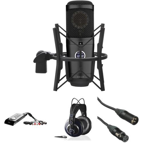Senal SCM-660 Multi-Pattern Mic, USB Audio Interface & Headphones Home-Studio-Pack Kit