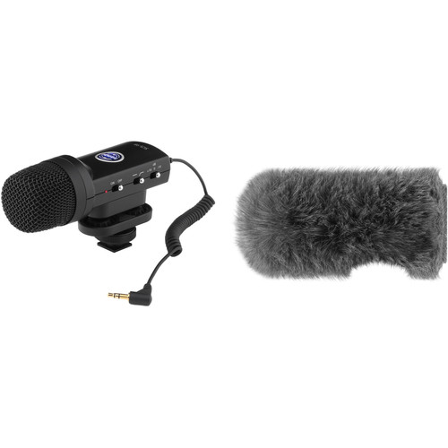 Senal SCS-98 DSLR/Video Stereo Microphone & Custom Windbuster Kit