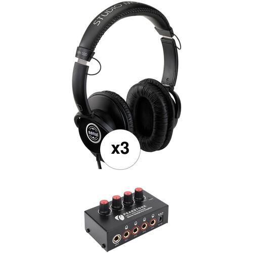 Senal Senal SMH-500 Professional Studio Headphones and Headphone Amplifier Kit (3-Pack)