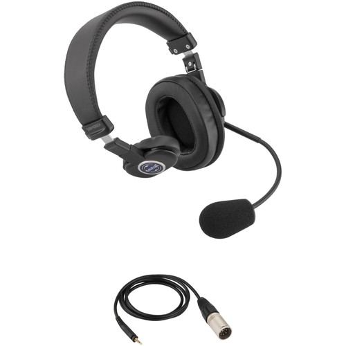 Senal SMH-1010CH Single-Sided Communication Headset with 5-Pin XLRM Cable for Telex System