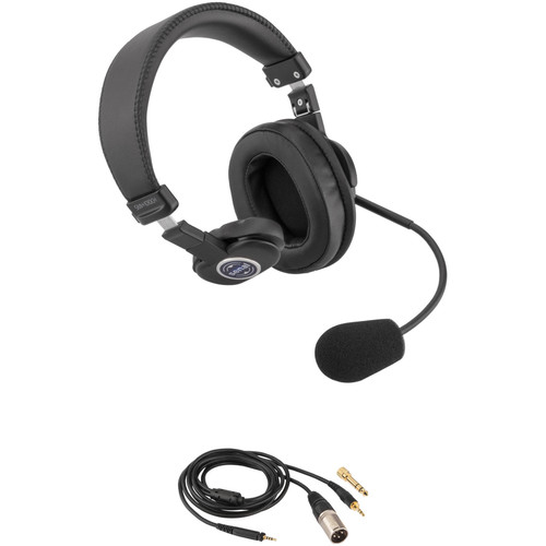 """Senal SMH-1010CH Single-Sided Communication Headset with 1/8"""" Mini-Jack and 3-Pin XLRM Cable for Mixers"""