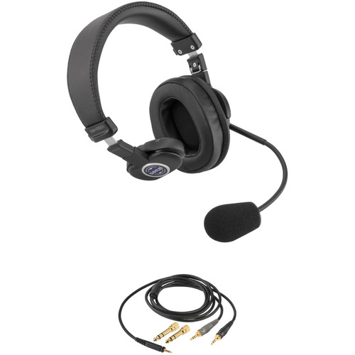 """Senal SMH-1010CH Single-Sided Communication Headset with Two 1/8"""" Mini-Jacks Cable for Computers and Laptops"""