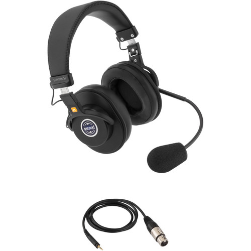 Senal SMH-1020CH Dual-Sided Communication Headset with 4-Pin XLRF Cable for PortaCom Systems