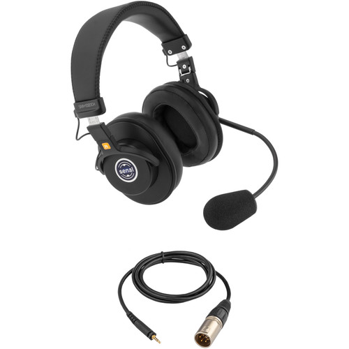 Senal SMH-1020CH Dual-Sided Communication Headset with 3.5mm TRRS to 4-Pin XLR Male Cable