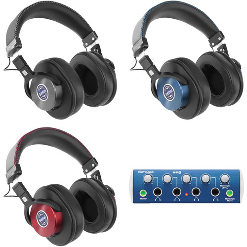 Senal SMH-1200 Enhanced Studio Monitor Headphones (3-Pack) and Headphone Amp Kit