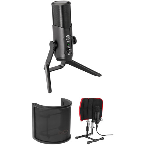 Senal UC4-B Multi-Pattern USB Microphone with Pop Screen and Isolation Filter Kit