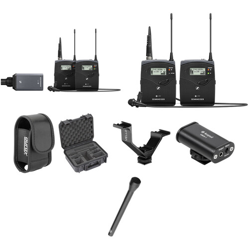 Sennheiser EW 100 G4 2-Person Camera-Mount Wireless Combo Microphone System Kit (A: 516 to 558 MHz)