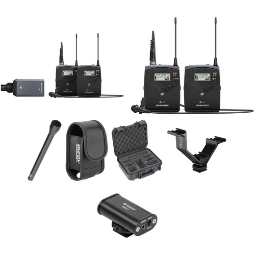 Sennheiser EW 100 G4 2-Person Camera-Mount Wireless Combo Microphone System Kit (G: 566 to 608 MHz)