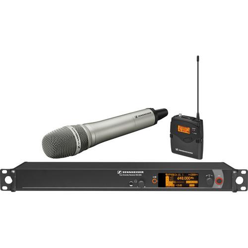 Sennheiser 2000 Series Wireless Microphone System with Handheld Transmitter, Neumann KK 204 Capsule and Bodypack Transmitter (Nickel)