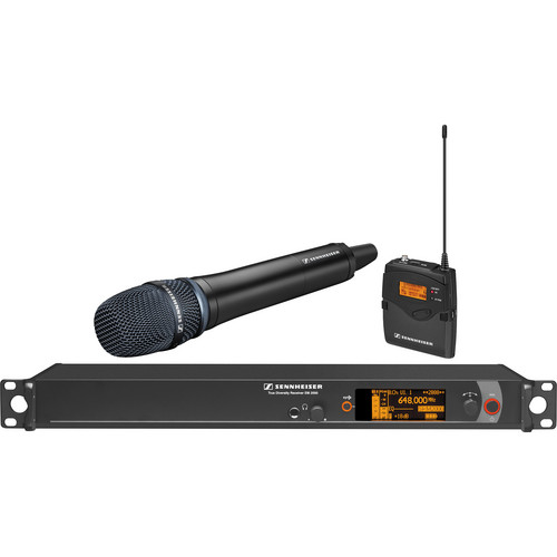 Sennheiser 2000 Series Wireless Microphone System with Handheld Transmitter, Neumann KK 205 Capsule and Bodypack Transmitter (Black)