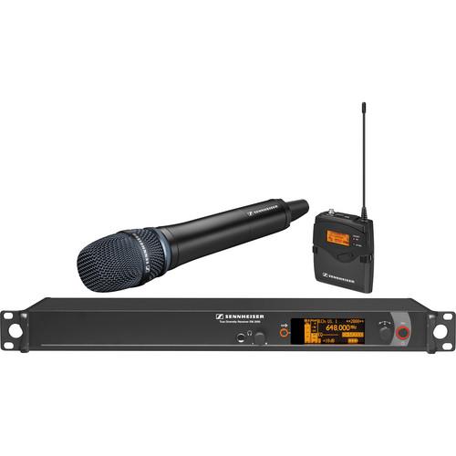 Sennheiser 2000 Series Wireless Microphone System with Handheld Transmitter, Neumann KK 205 Capsule and Bodypack Transmitter (Black)