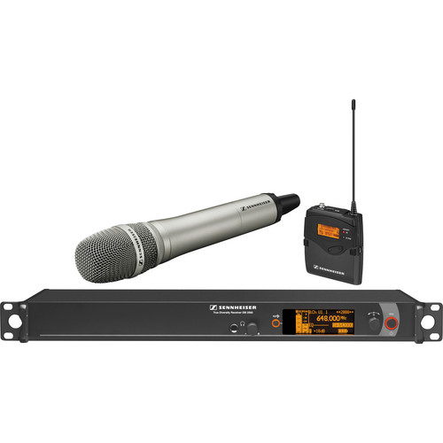 Sennheiser 2000 Series Wireless Microphone System with Handheld Transmitter, Neumann KK 205 Capsule and Bodypack Transmitter (Nickel)