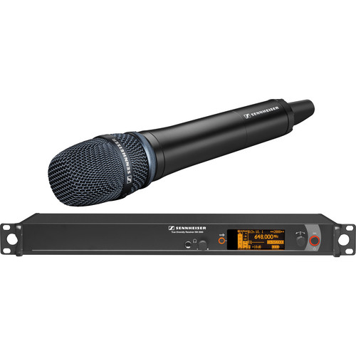 Sennheiser 2000 Series Single Handheld Wireless Microphone System with Neumann KK 204 Capsule (Black)