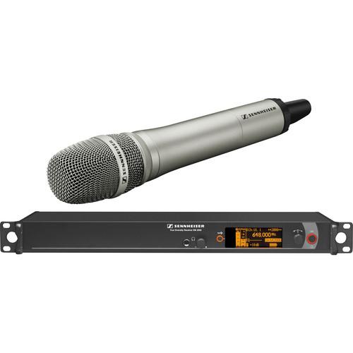 Sennheiser 2000 Series Single Handheld Wireless Microphone System with Neumann KK 205 Capsule (Nickel)