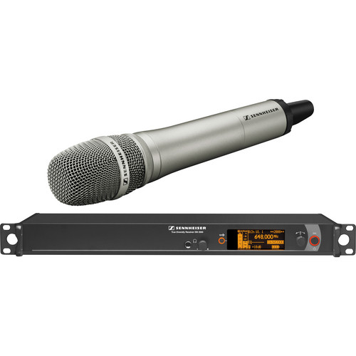Sennheiser 2000 Series Single Handheld Wireless Microphone System with Neumann KK 205 Capsule (Nickel)
