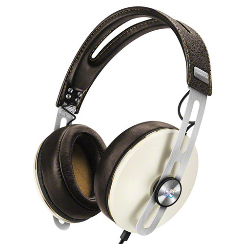 Sennheiser Momentum 2 Lifestyle Around-Ear Hifi Headphones (iOS, Ivory)