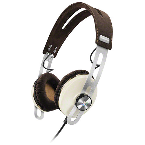 Sennheiser Momentum 2 Lifestyle On-Ear Hifi Headphones (iOS, Ivory)