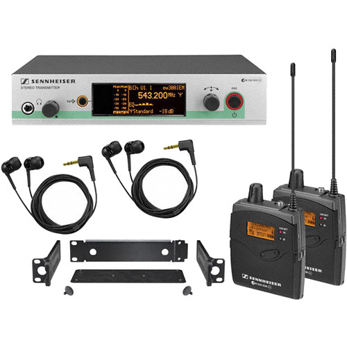 Sennheiser ew 300-2 IEM G3 Wireless Stereo Audio-Monitoring System (A1: 470-516 MHz)